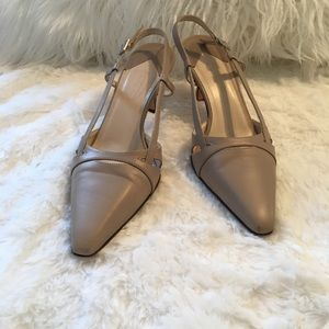 Talbots leather strappy heel